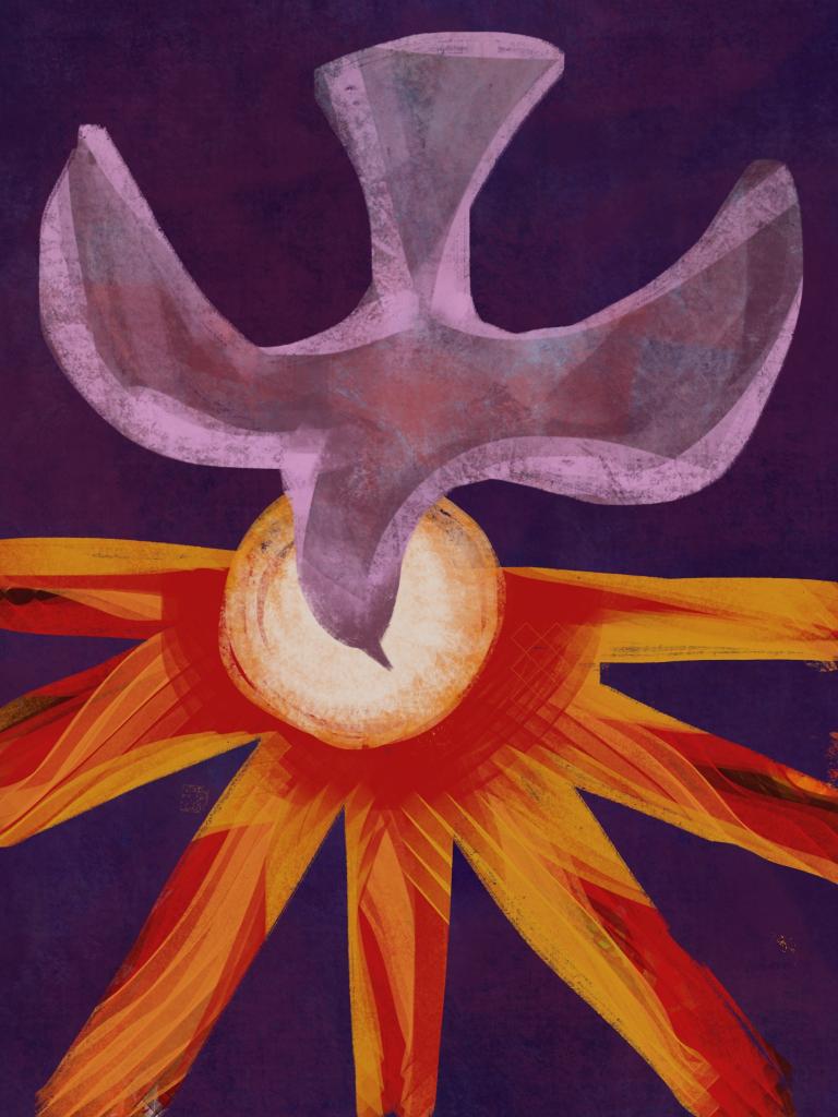 Pentecost descending dove