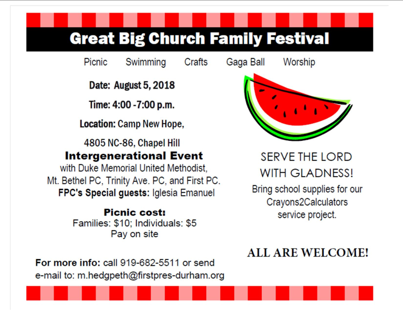 GBCFF 2018 – Serve the Lord With Gladness