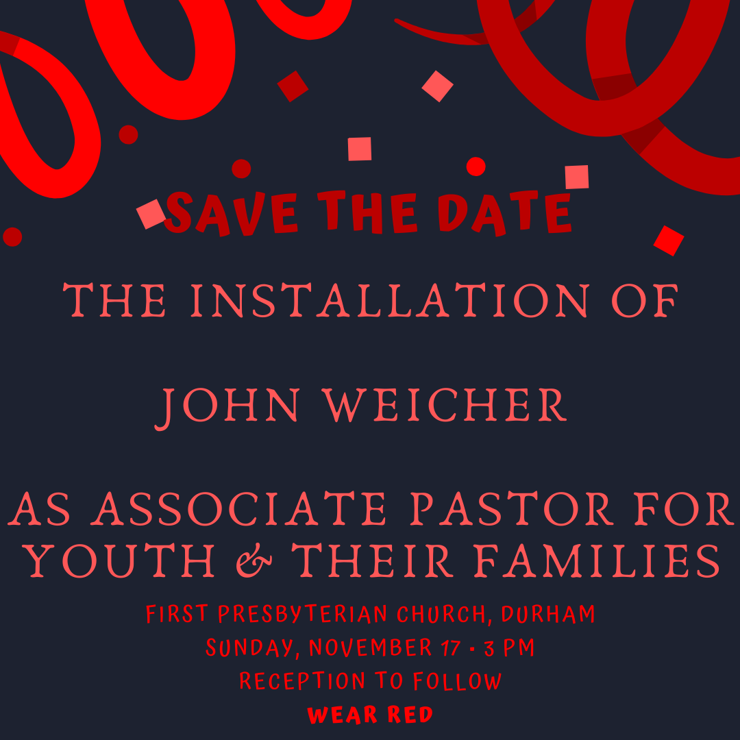 Pastoral Installation Service for John Weicher